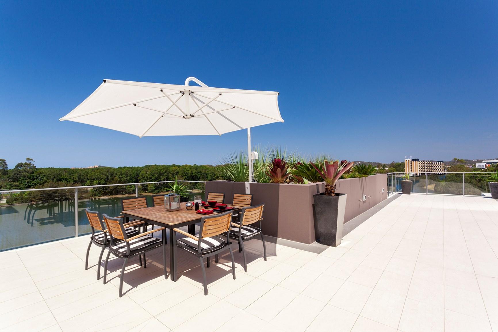 salon en métal sur votre terrasse